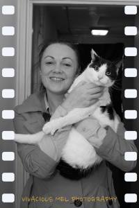 Gillian and Marley the cat